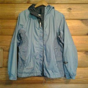 COLUMBIA Rain Jacket OMNI TECH Blue Medium